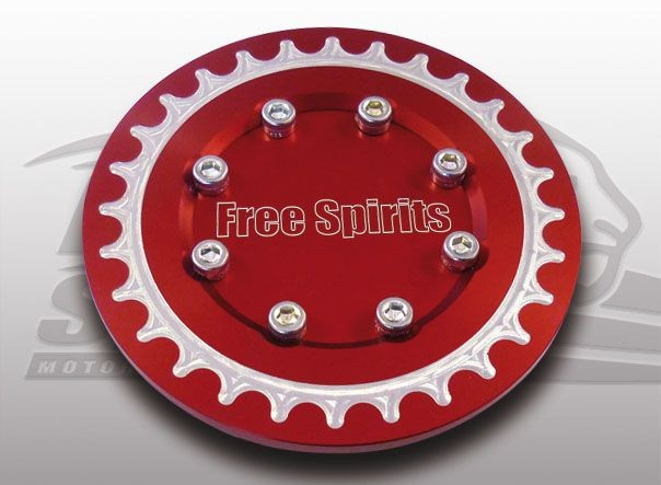 207518r free spirits buell xb red pulley cover