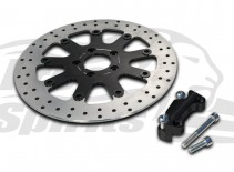 203702 free spirits hd softail 320 mm brake rotors kit