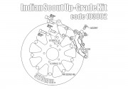 Bolt-in Kit freno anteriore (Titanio) per Indian Scout (disco diam. 320 mm e pinza 4p.)
