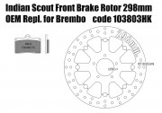 Indian Scout - Disco freno anteriore 298mm e pastiglie per kit Brembo