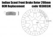 Indian Scout front brake rotor 298mm & pads