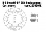 Harley Davidson Dyna 2006-07 OEM replacement front brake rotor 300mm & pads