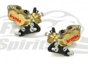 Front brake calipers 4 pot kit for Harley Davidson 2006 up with dual disc