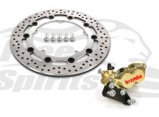 Harley Davidson Dyna cast wheels 06-17 - Bolt-in kit with 4p. caliper & rotor 320 mm - KIT