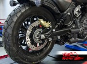 Kit freno Brembo posteriore 4 Pistoni per Indian Scout