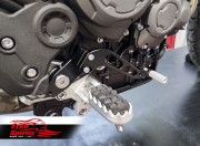 Reclining pedals kit for Triumph Tiger 900 (Black)