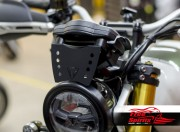 Dash board shield for Triumph Scrambler 1200 - Black