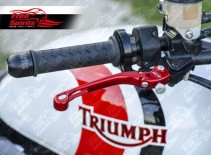Brake lever & clutch lever reclining and adjustable for Triumph (Red)