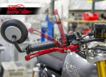 Brake & clutch levers (Red) reclining and adjustable for Triumph Speed Triple R-S & Thruxton R