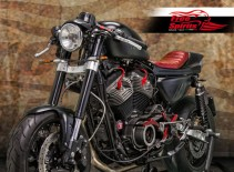Cafè Racer Yokes for Harley Davidson Sportster with XR 1200 USD fork (Black)