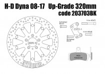 Harley Davidson Dyna 2008-2017 - Brake rotor kit (320 mm) & pads