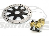 Bolt-in Upgrade braking kit for Harley Davidson Sportster 2000 up (4p. caliper & rotor diam. 300 mm) - KIT