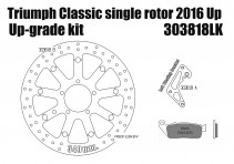 Triumph Street Twin/Cup/Scrambler, Bobber & T100 2016 up - Upgrade floating front brake rotor kit (340 mm) & pads
