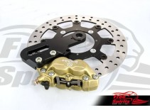 Triumph Street Twin & Street Cup rear Up Grade Floating Rotor and 4pot Caliper kit - KIT