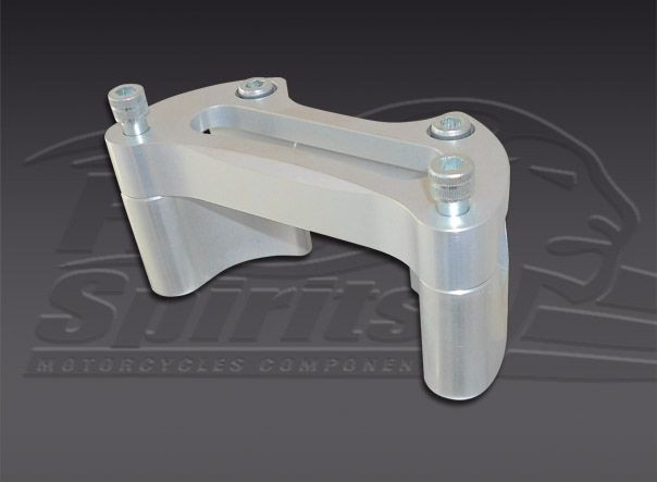 Risers for OEM handlebar & our yokes 202401-202404 (Silver)