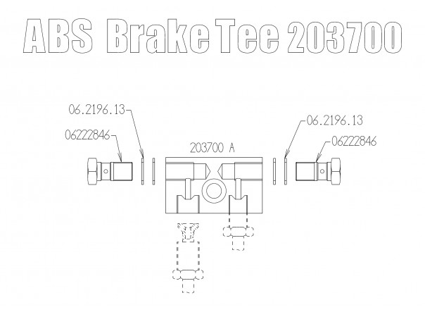 ABS Brake Tee (front)