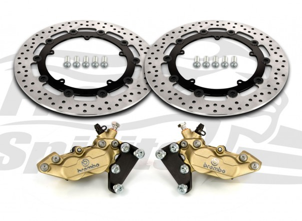 Harley Davidson Touring 07-09, Dyna 06-17 & V-Rod 02-10 - Bolt-in kit with 4p. calipers & rotors 320 mm - KIT