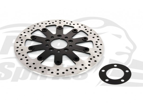 Harley Davidson Touring 2008 up & XG Street OEM replacement rear brake rotor 300mm & pads - KIT