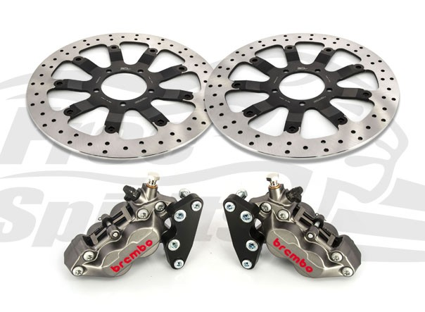 Bolt-in Upgrade braking kit for Triumph Bonneville T120 (4p. calipers & rotors diam. 340 mm)