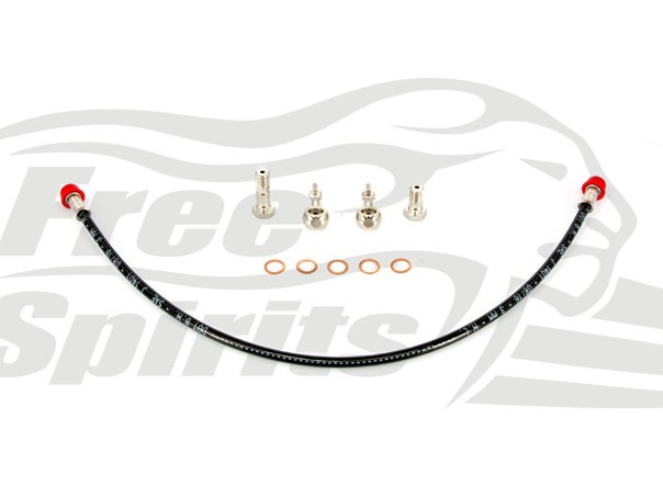 Triumph Bobber Braided Front Brake Line for kit 303901