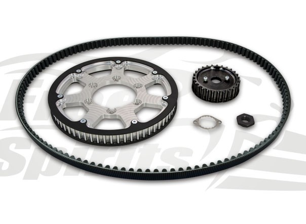 Belt drive conversion for Triumph Street Twin/Cup/Scrambler & Bonneville T100 2018 up (Silver)