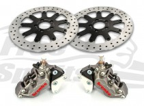 Bolt-in Upgrade braking kit for Harley Davidson XG Street Rod (4p. calipers & rotors diam. 320 mm) - KIT