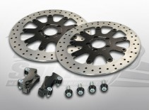 Brake rotors kit (320 mm) for Harley Davidson Touring 2008-2013