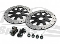 Harley Davidson Touring 2008 up & V-Rod 06 up - Brake rotors kit (320 mm) & pads