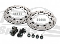 Harley Davidson Touring 2008-09 & V-Rod 06-10 - Brake rotors kit (320 mm) & pads