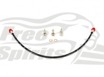 Braided brake line rear Harley Davidson XG Street with ABS for kit 206301