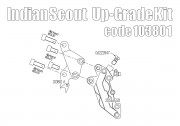Front brake caliper 4 pot kit for Indian Scout (Titanium)