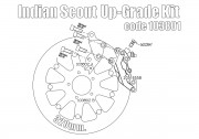 Bolt-in Upgrade braking kit for Indian Scout (4p. caliper Gold & rotor diam. 320 mm)
