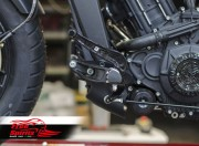 Extended forward controls adaptors plates (80mm) for Indian Scout