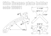 Side license plate bracket for Indian Scout - KIT