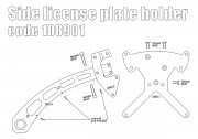 Side license plate bracket for Indian Scout