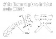 Side license plate bracket (Austria, Germany, Italy) for Indian Scout