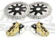 Bolt-in Upgrade braking kit for Harley Davidson Street Rod (4p. calipers & rotors diam. 320 mm)