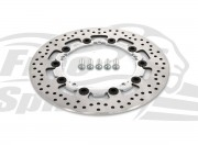 Harley Davidson Dyna 2008 up (cast wheels) OEM replacement front brake rotor (Chrome) 300mm & pads