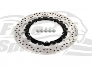 Harley Davidson Dyna 2008 up (cast wheels) OEM replacement front brake rotor (Black) 300mm & pads