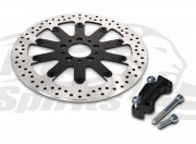 Harley Davidson Sportster 00-03, Dyna 00-05 & Softail 00-14 Brake rotors kit (320 mm) & pads