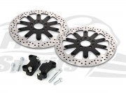 Harley Davidson Dyna dual disc 08-17 - Brake rotors kit (320 mm) & pads