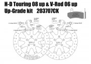 Harley Davidson Touring 2008 up & V-Rod 06-10 - Brake rotors kit (320 mm) & pads