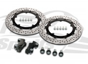 Harley Davidson Touring 2008-09 & V-Rod 06-10 - Brake rotors kit (320 mm) & pads - KIT