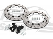 Harley Davidson Dyna dual disc (cast wheels) 08-17 - Brake rotors kit (320 mm) & pads - KIT