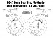 Harley Davidson Dyna dual disc (cast wheels) 08-17 - Brake rotors kit (320 mm) & pads
