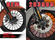 Front brake calipers 4 pot kit (Black) for Harley Davidson 2006 up with dual disc