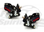 Front brake calipers 4 pot kit for Harley Davidson 2006 up with dual disc - KIT