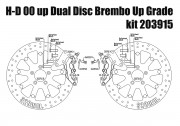 Harley Davidson dual disc 2000 up - Bolt-in kit with 4p.(Titanium) calipers & rotors 320 mm