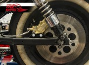 "Rear brake caliper 4 pot kit for Harley Davidson Sportster until 2003 (Rotor diam 11""1/2)"