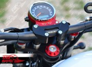 Risers for Oversize Handlebar for Triumph Street Triple (Black)